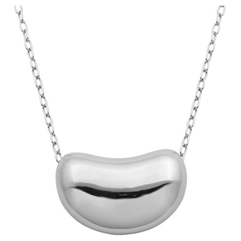 "Sterling Silver Kidney Bean Necklace, 18"" - image 1 of 1"