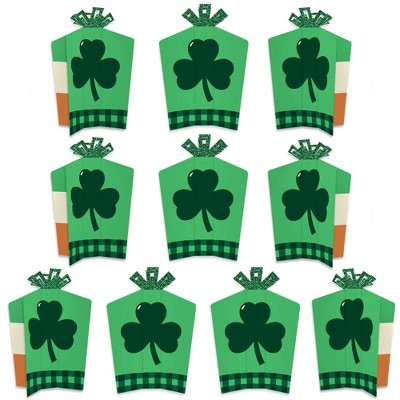 Big Dot of Happiness St. Patrick's Day - Table Decorations - Saint Patty's Day Party Fold and Flare Centerpieces - 10 Count