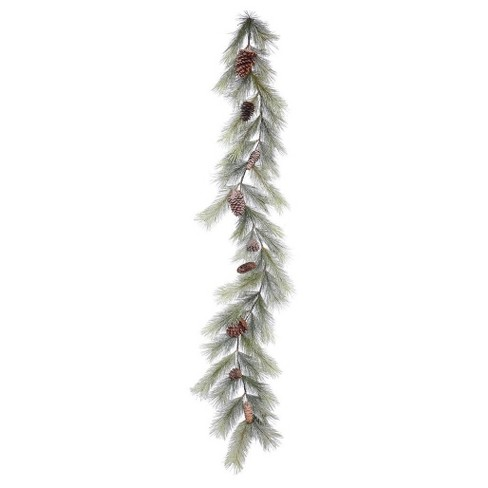 6ft. Christmas Unlit Frosted Bellevue Pine Artificial Green Garland - image 1 of 1