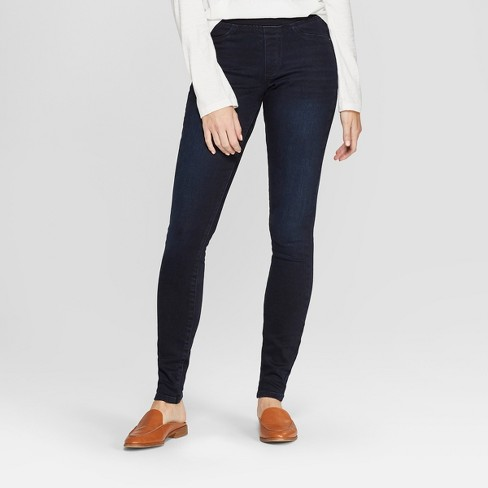 Women's High-Rise Pull On Jeggings - Universal Thread™ Dark Wash - image 1 of 3