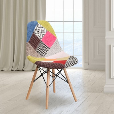 Flash Furniture Elon Series Fabric Chair with Wooden Legs