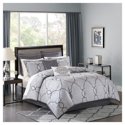 Silver Octavia Complete Bed Set (Queen)12pc