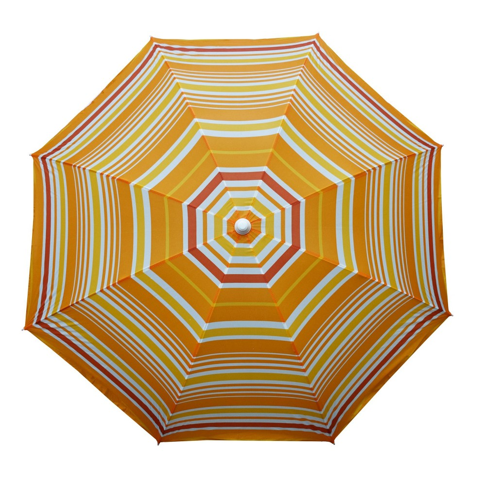Image of 9' Mango Stripe Beach Umbrella Orange - Astella