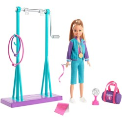 Barbie Team Stacie Doll Gymnastics Playset with Accessories