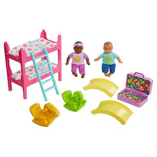 Honestly Cute My Lil' Baby Bunk Bed Playroom African American/Latina