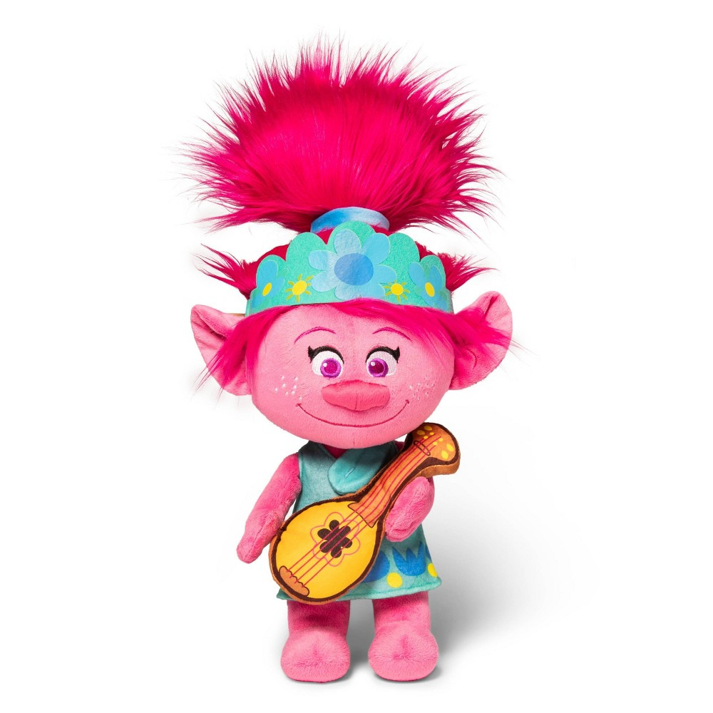 Image of Trolls World Tour Cuddle Pillow Poppy with Guitar Poppy