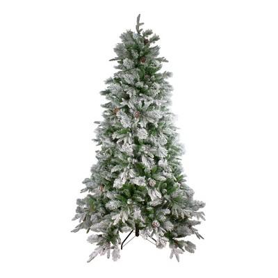 Northlight 6.5' Unlit Artificial Christmas Tree Full Flocked Mixed Colorado Pine
