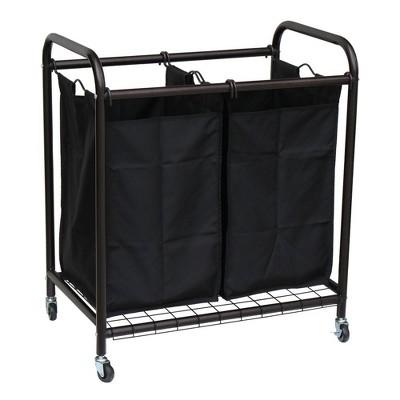 Oceanstar 2-Bag Rolling Laundry Sorter