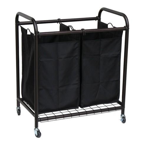Oceanstar 2-Bag Rolling Laundry Sorter - image 1 of 4