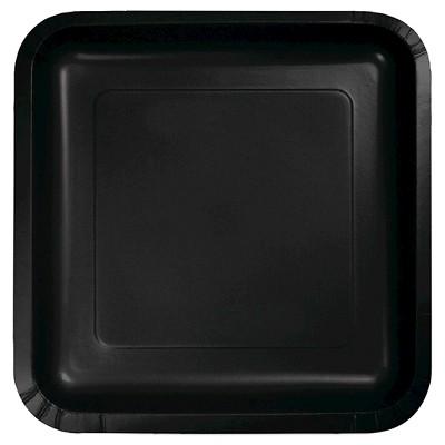 "Black 7"" Dessert Plates - 18ct"