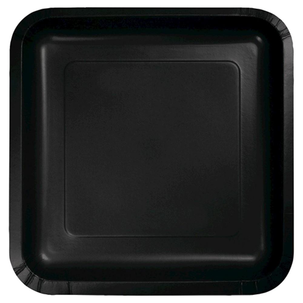 Black 7 Dessert Plates - 18ct