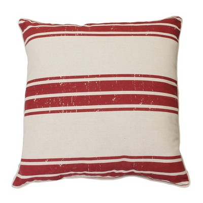 Dolly Farm Oversize Square Throw Pillow Red - Décor Therapy