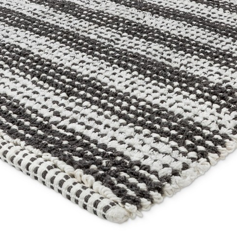 32 X20 Woven Stripe Bath Rug Gray White Project 62 Target