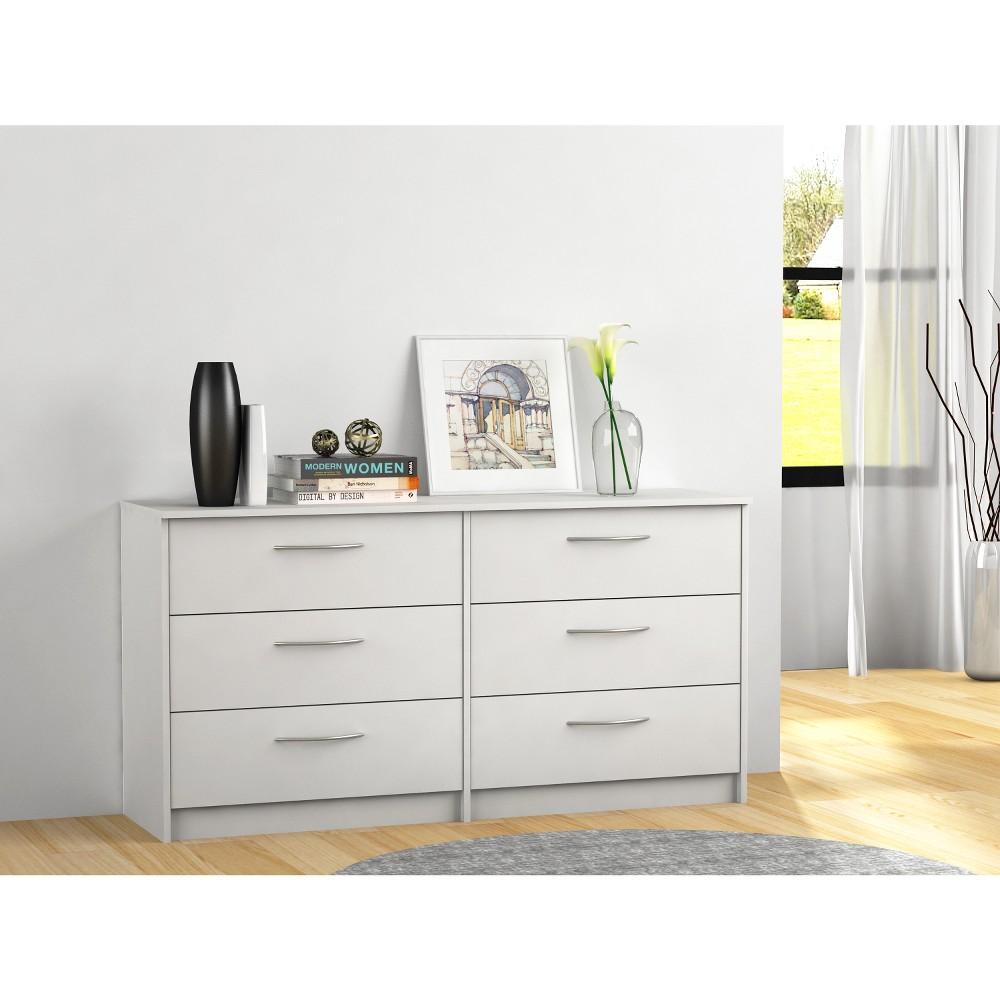 Addison 6 Drawer Dresser Off-White (Beige) - Loft 607