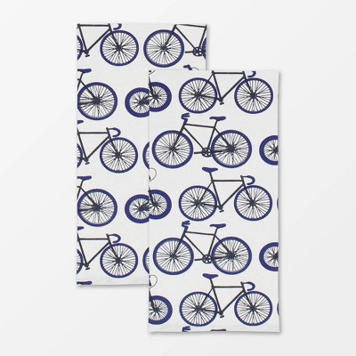 2pk Designer Biking Print Towel - MU Kitchen