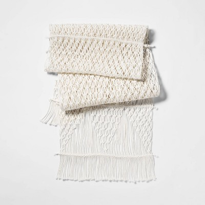 72 x14  Macrame Runner White - Threshold™