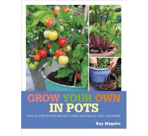 Grow Your Own in Pots : With 30 Step-by-step Projects Using Vegetables, Fruit, and Herbs -  (Paperback) - image 1 of 1