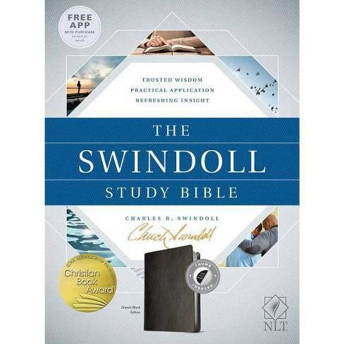 The Swindoll Study Bible NLT - (Leather_bound) - image 1 of 1