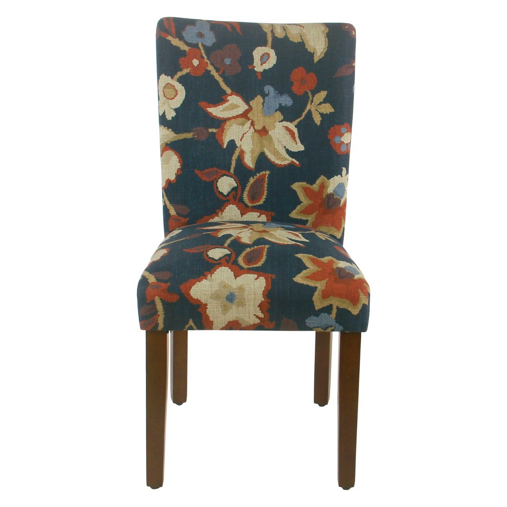 Homepop Set of 2 Classic Parsons Dining Chair Navy Floral