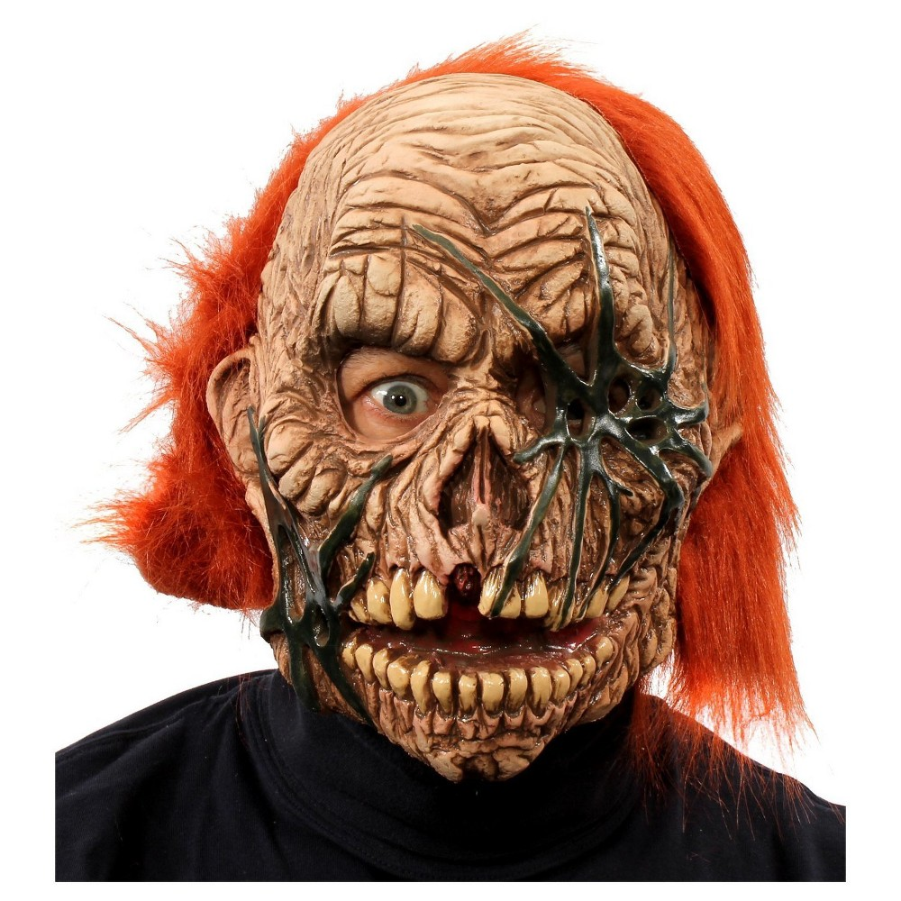 Corpse Zombie Full Mask with Red Hair, Adult Unisex, Multi-Colored