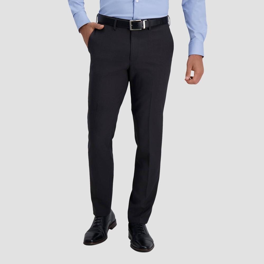 Haggar H26 Men 39 S Premium Stretch Slim Fit Dress Pants Charcoal Gray 28x30