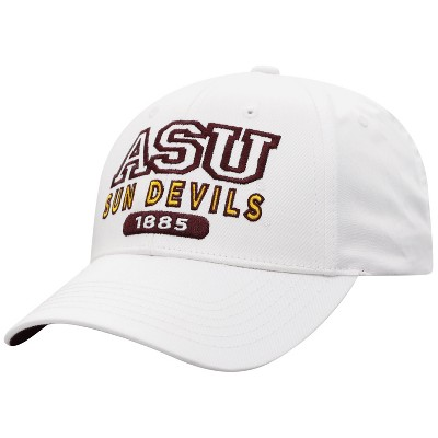 NCAA Arizona State Sun Devils Men's White Twill Structured Snapback Hat