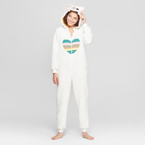 Women s Llama Union Suit - Xhilaration™ White   Target 5eac499e59