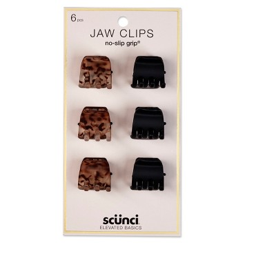 scunci 2cm No Slip Jaw Clips - 6pk