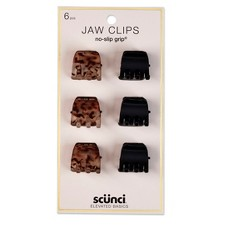 Conair Scunci 2cm No Slip Jaw Clips - 6pk