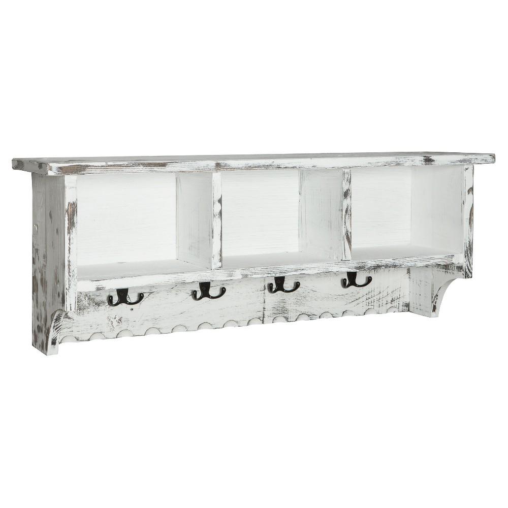 Image of 36 Wall Mounted Coat Rack Hardwood White - Alaterre Furniture