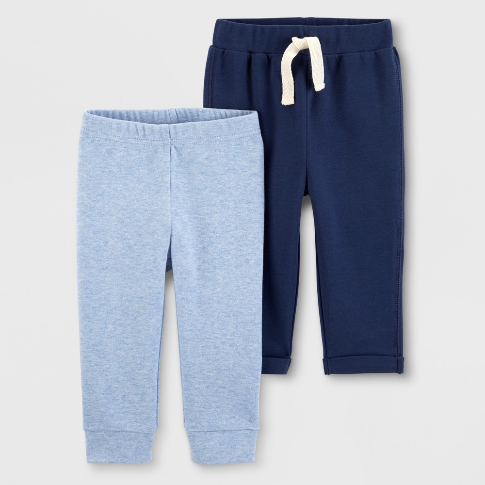 Baby Boys' 2pk Jogger Pants - Just One You made by carter's Blue/Navy Newborn