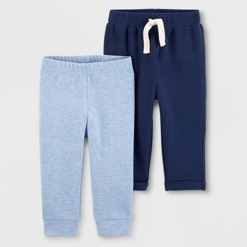 Baby Boys 2pk Jogger Pants Just One You Made By Carter S Blue