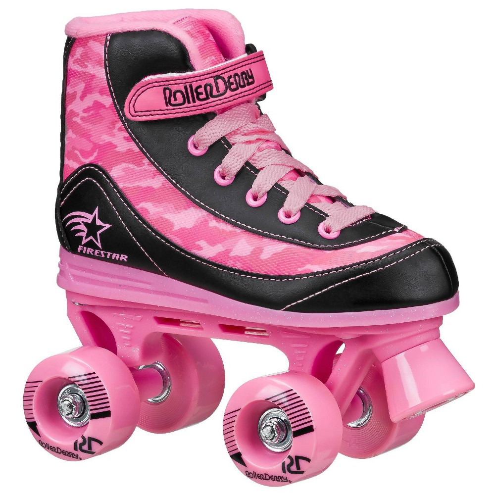 Roller Derby Firestar Youth Girls 39 Roller Skate Pink Camo 4