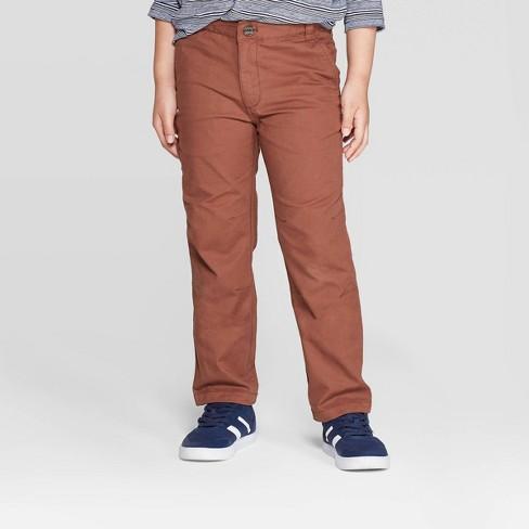 Boys' Fashion Pants - Cat & Jack™ Brown - image 1 of 4