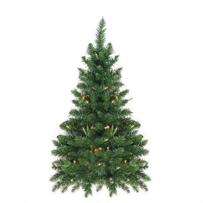 Northlight 3' Pre-Lit Buffalo Fir Artificial Christmas Wall or Door Tree - Clear Dura Lights