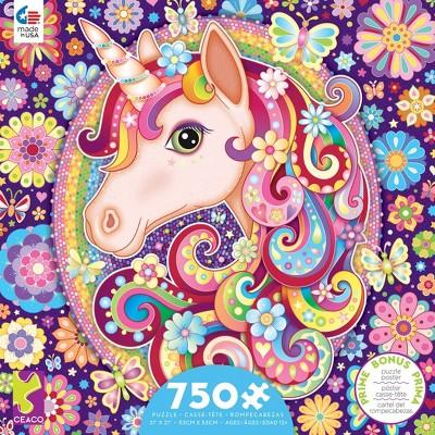 Ceaco Groovy Animals: Unicorn Puzzle 750pc