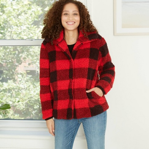 Women's Plaid Long Sleeve Check Jacket - Knox Rose™  - image 1 of 2