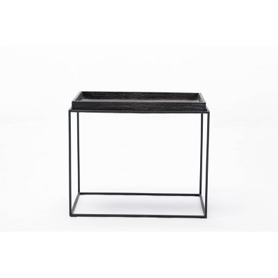 Burnham Home Highlands End Table Dark Gray - Boraam