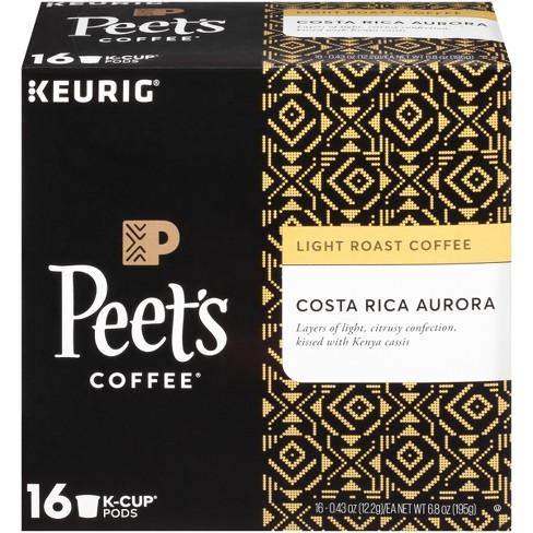 Peet's Coffee Costa Rica Aurora Light Roast Coffee - Keurig K-Cup Pods - 16ct - image 1 of 4