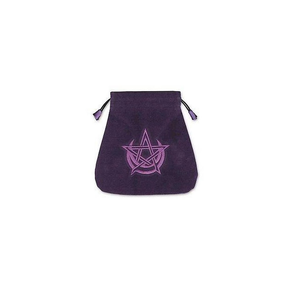 Pagan Moon Velvet Tarot Bag (Paperback) Attractive and useful, tarot bags are an ideal way to safely store and protect your valuable decks. This handsome, embroidered velvet pouch can hold two standard size (2.6 x 4.7) decks.