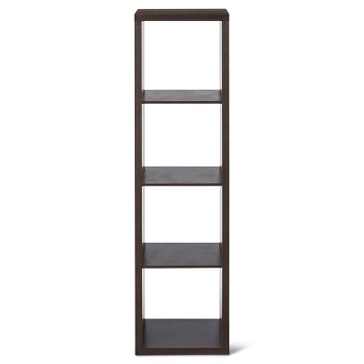 "4-Cube Vertical Organizer Shelf Espresso Brown 13"" - Threshold™"