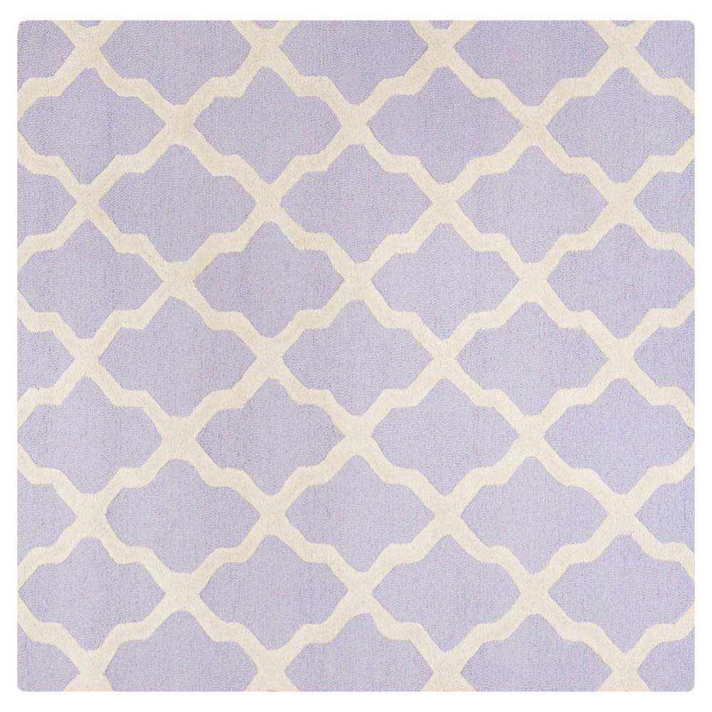 Maison Textured Rug - Lavender / Ivory (6'X6') - Safavieh, Purple/Ivory