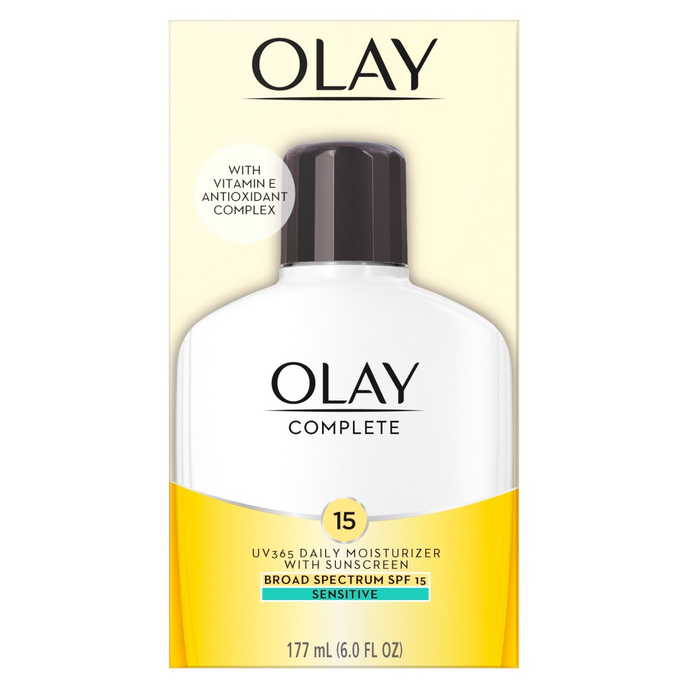 Unscented Olay Complete All Day Moisturizer Sensitive Skin Spf 15 - 6oz