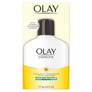 Unscented Olay Complete All Day Moisturizer Sensitive Skin SPF 15 - 6oz, Size: 6 oz