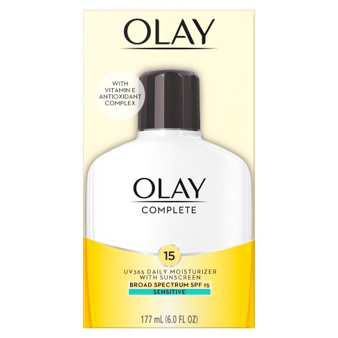 Unscented Olay Complete All Day Moisturizer Sensitive Skin SPF 15 - 6oz - image 1 of 3