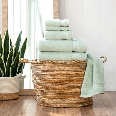 6pc Noah Bath Towel Set Sage - Martha Stewart