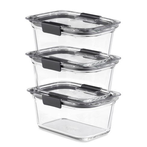Rubbermaid 6pc Brilliance Glass Food Storage Containers, 4.7 Cup Food Containers with Lids BPA Free and Leak Proof - image 1 of 4