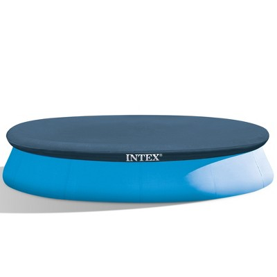 Intex 28022E 11.3-Foot Easy Set OutdoorSwimming Pool Debris Cover Tarp with Tie Down Ropes, Blue