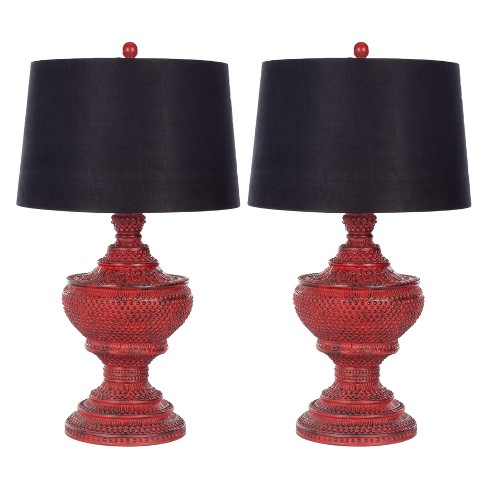 Chinese Red Urn Lamp (Set of 2) - Safavieh® - image 1 of 4
