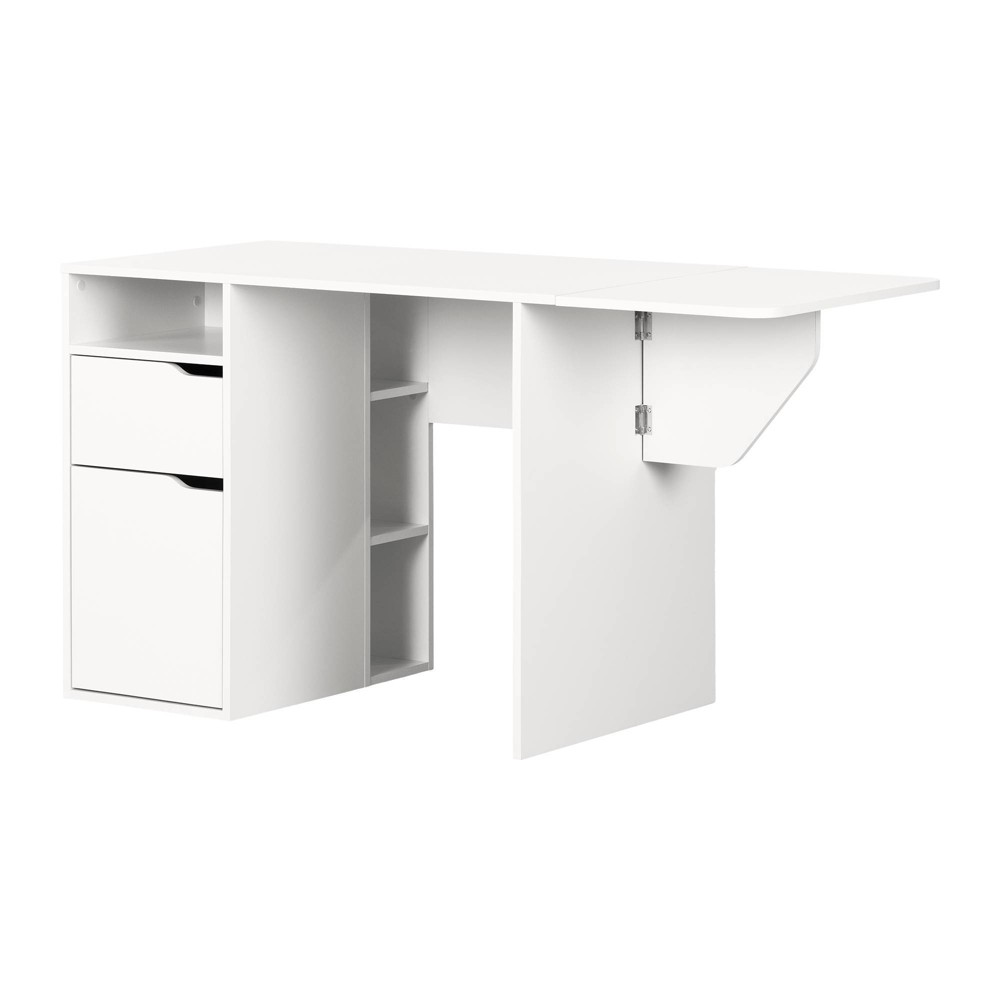 Image of Crea Expandable Craft Table White - South Shore